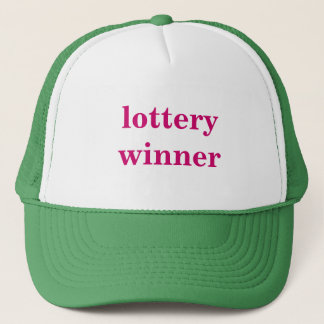 lottery winner trucker hat