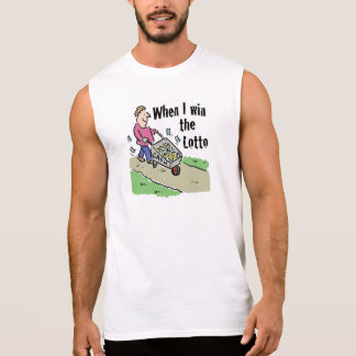 Lottery Winning Design Man with Barrow of Cash Sleeveless Shirt
