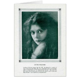 Lottie Pickford 1916 vintage portrait card