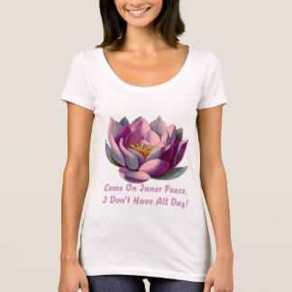 Lotto flower funny yoga and meditation quote T-Shirt