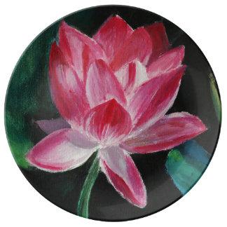 Lotus 27.3 cm Decorative Porcelain Plate