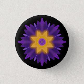 Lotus 3 Cm Round Badge