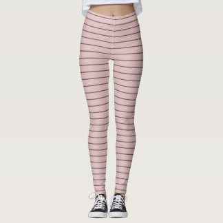 Lotus and Black Stripes Leggings