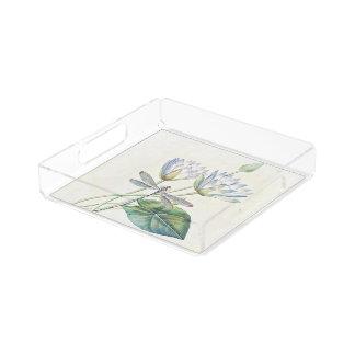 lotus and dragonfly acrylic tray