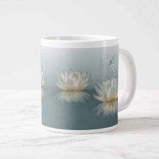 Lotus and Dragonfly Jumbo Mug