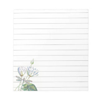 Lotus and dragonfly notepad