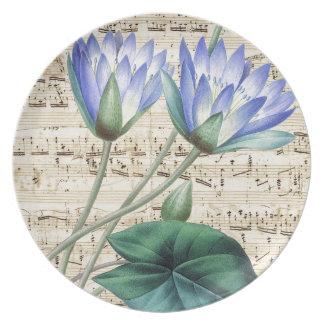 Lotus and Music Plates
