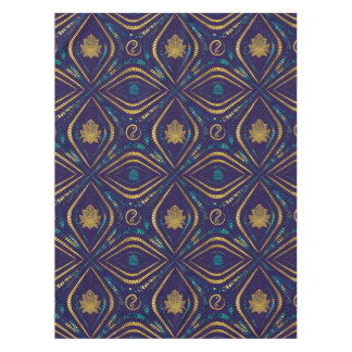 Lotus and OM symbol Luxury Pattern Tablecloth