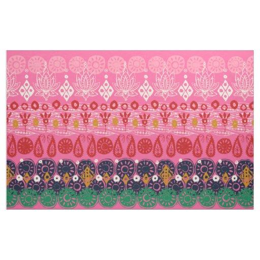 lotus block pink fabric