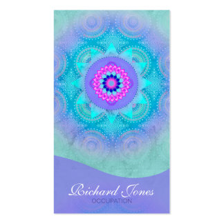 Lotus Bloom Turquoise Mandala Pack Of Standard Business Cards