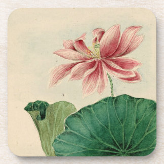 Lotus blossom Cork Coaster