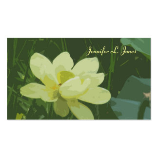 Lotus Blossom Mommy Calling Card Business Cards