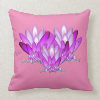 Lotus blossom pink on pink background cushion