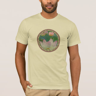 Lotus Blossoms in Circle T-Shirt
