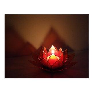 Lotus Candle Holder Postcard