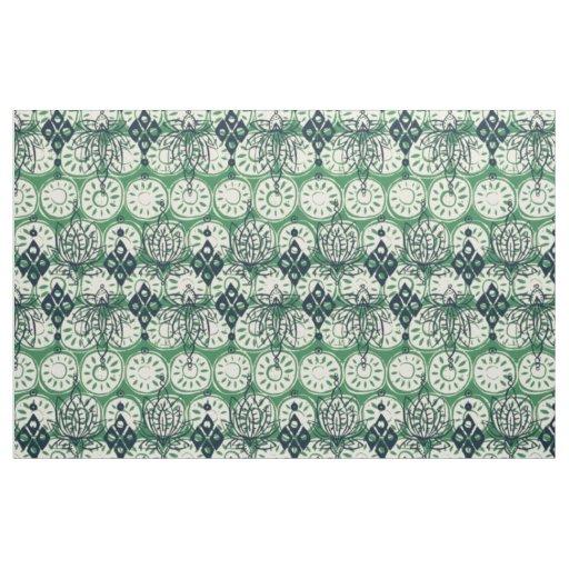 lotus diamond green fabric