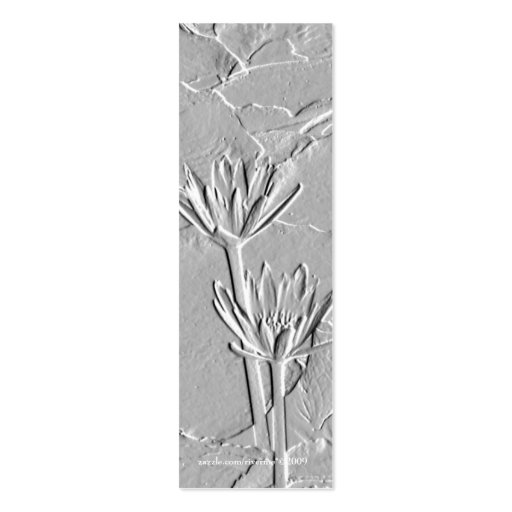 Lotus/Embossed-Like Photo Bookmark Business Cards