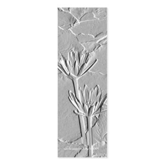 Lotus Embossed-Like Photo Bookmark Business Cards