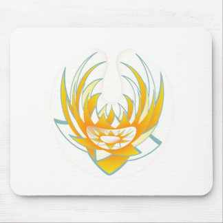 LOTUS Fire Energy Design Mouse Pad
