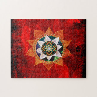 Lotus Fire Weave Jigsaw Puzzle