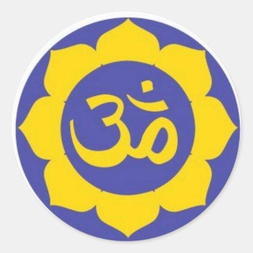 lotus flower - aum meditation stickers