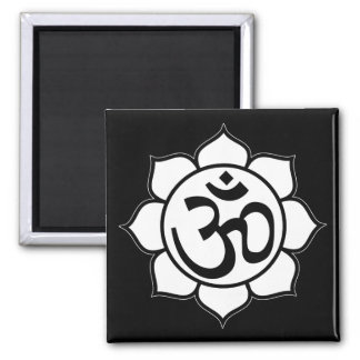 Lotus Flower Aum Symbol Refrigerator Magnet