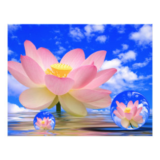 Lotus Flower Born in Water 21.5 Cm X 28 Cm Flyer