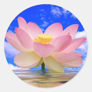 Lotus Flower Born in Water Round Sticker