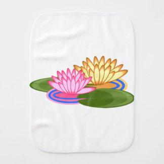 Lotus flower burp cloth