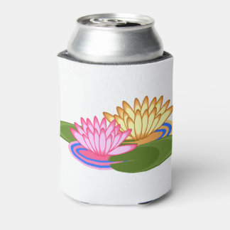 Lotus flower can cooler