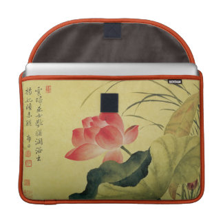 Lotus Flower Chinese Fine Art MacBook Pro Sleeves