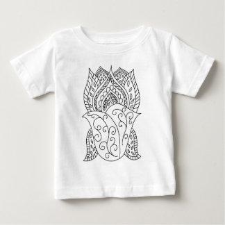 Lotus Flower Coloring DIY Doodles Baby T-Shirt