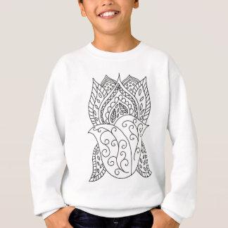 Lotus Flower Coloring DIY Doodles Sweatshirt