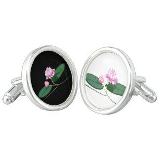 Lotus flower cuff links