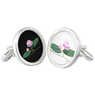 Lotus flower cufflinks