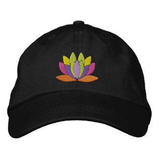 Lotus Flower Embroidered Hats