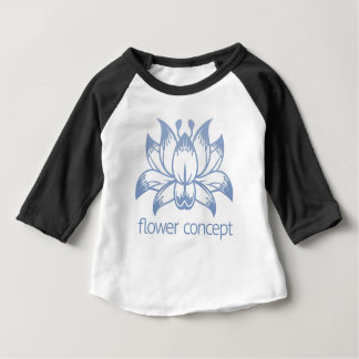 Lotus Flower Floral Design Concept Icon Baby T-Shirt