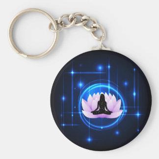 Lotus Flower Galaxy Key Ring