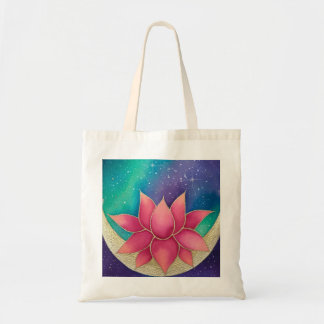 Lotus Flower Galaxy Tote Bag Purse