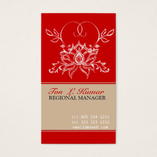 Lotus Flower Garden Business Card