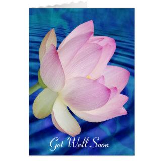 Lotus flower get well soon greeting card