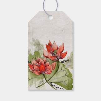Lotus Flower Gift Tags