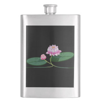 Lotus flower hip flask