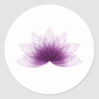 Lotus flower in purple color classic round sticker