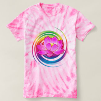 Lotus Flower in Rainbow T-Shirt
