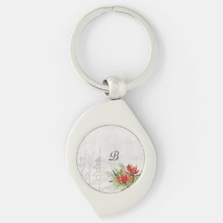 Lotus Flower Key Ring