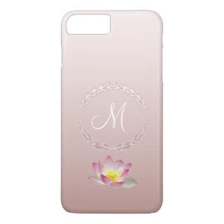 Lotus Flower Laurel Wreath Monogram iPhone 8 Plus/7 Plus Case