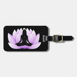 Lotus Flower Luggage Tag