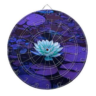 Lotus Flower Magical Purple Blue Turquoise Floral Dartboard