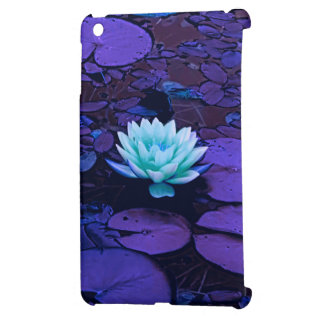 Lotus Flower Magical Purple Blue Turquoise Floral iPad Mini Cases